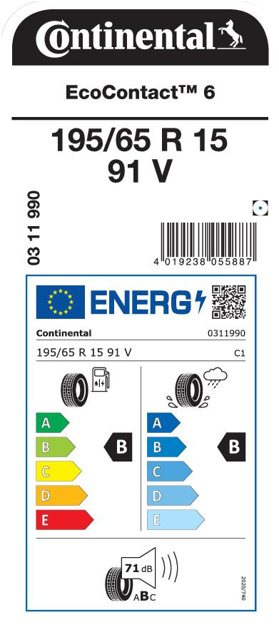 Continental EcoContact 6 195/65 R15 91V