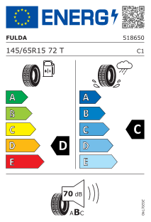 Fulda EcoControl 145/65 R15 72T