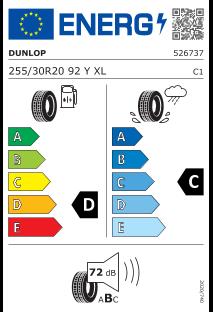 Dunlop SP Sport MAXX GT 255/30 R20 92Y XL ROF *