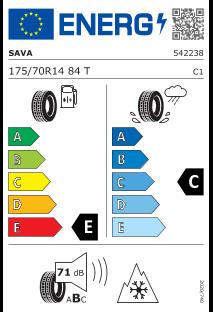 Sava Eskimo S3+ 175/70 R14 84T