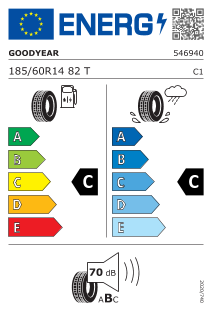 Goodyear Effigrip Compact 185/60 R14 82T