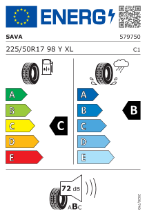 Sava Intensa UHP 2 225/50 R17 98Y XL