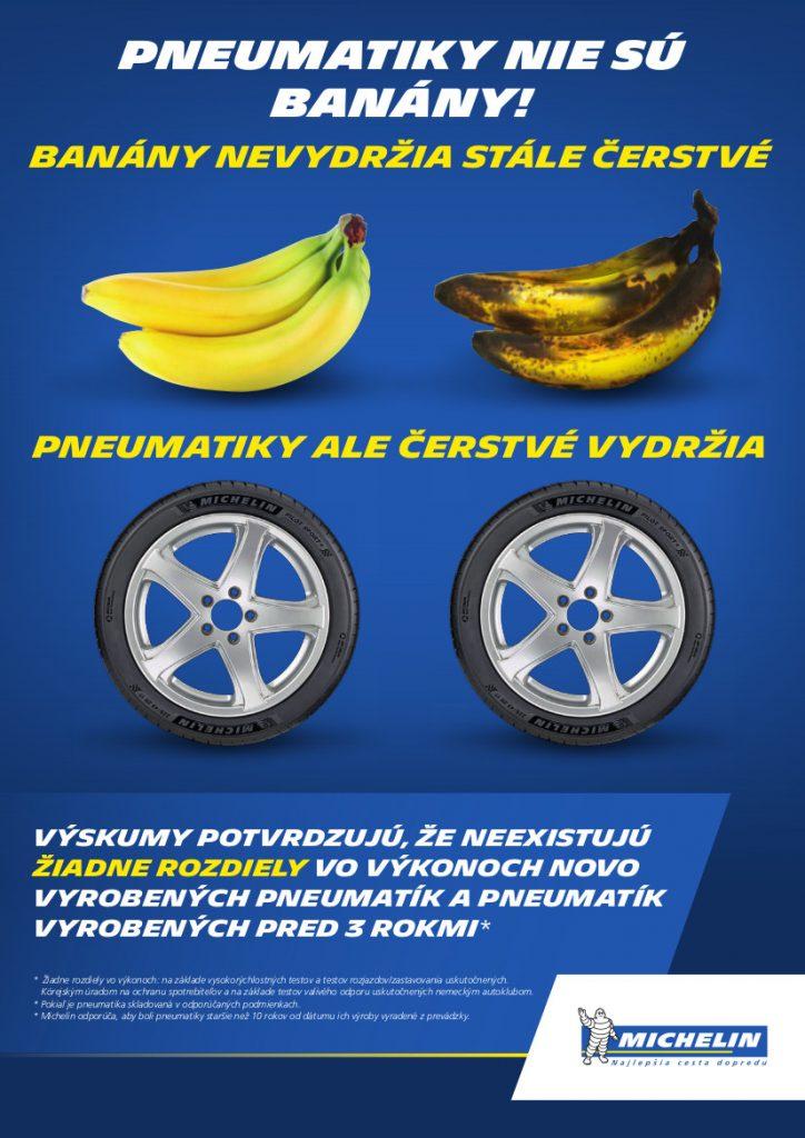 Pneumatiky nie su banany